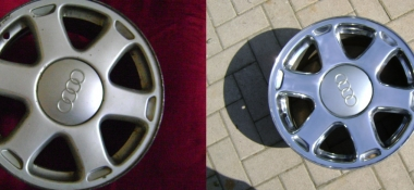 Metal Polishing Aberdeen - Polished Audi Alloy Wheels