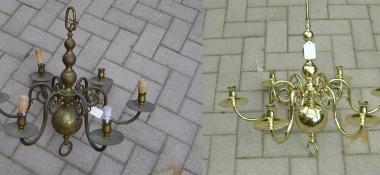 Metal Polishing Aberdeen - Polished Light Pendant