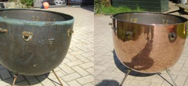 Metal Polishing Aberdeen - Polished Copper Kettle Drum